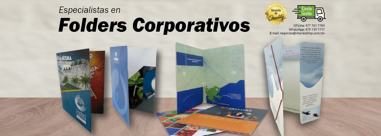 Especialistas en folders corporativos
